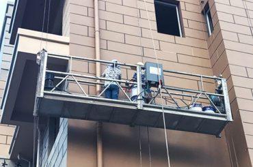 hot galvanized / aluminum rope suspended platform 415v 50hz two1.8kw motor