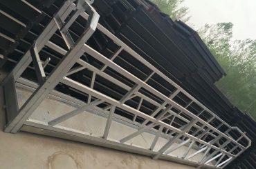 zlp630/800 ll shape aluminum alloy,steel construction suspended working platform lift on building windows