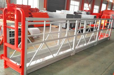 aluminum alloy suspended scaffolding systems 1000 kg 2.2 kw for window cleaning