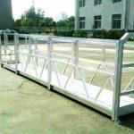 steel / aluminum suspended work platforms with sal series safety lock