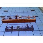 strong construction rope suspended platform with 30kn safety lock zlp1000 2.2kw 2.5m*3