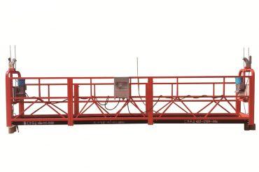 steel / hot galvanized temporary suspended platform , zlp500 maintenance cradle