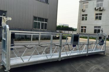 adjustable aluminum alloy rope suspended platform zlp 800 for refurbishing / painting