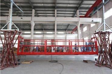 2 * 2.2kw suspended access platforms zlp1000 lifting speed 8 – 10 m / min