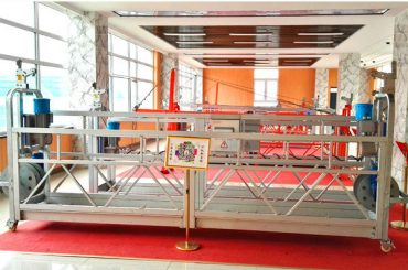 ZLP630 aluminum suspended platform (CE ISO GOST )/high rise window cleaning equipment/temporary gondola/cradle/swing stage hot