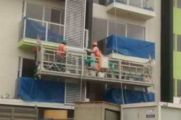 construction maintenance rope suspended platform with hoist ltd8.0 zlp800